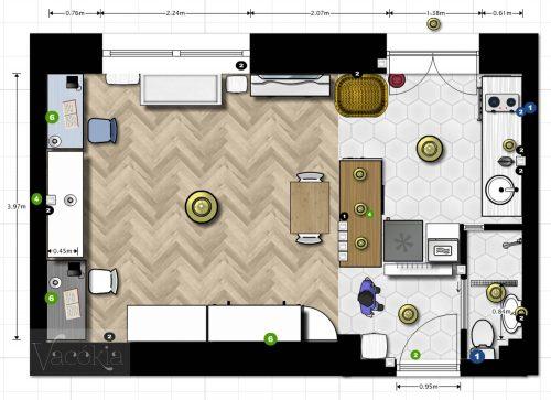 A lakás elektromos hálózatának terve