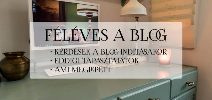 Féléves a blog – Tapasztalatok