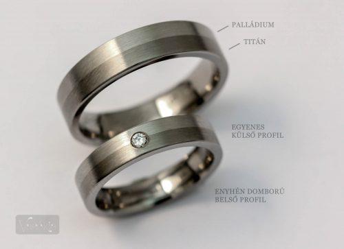 Az egyedileg gyártott, palládium-titán karikagyűrűnk (fotó és gyűrű: Farkas Márk, farkasekszer.hu)