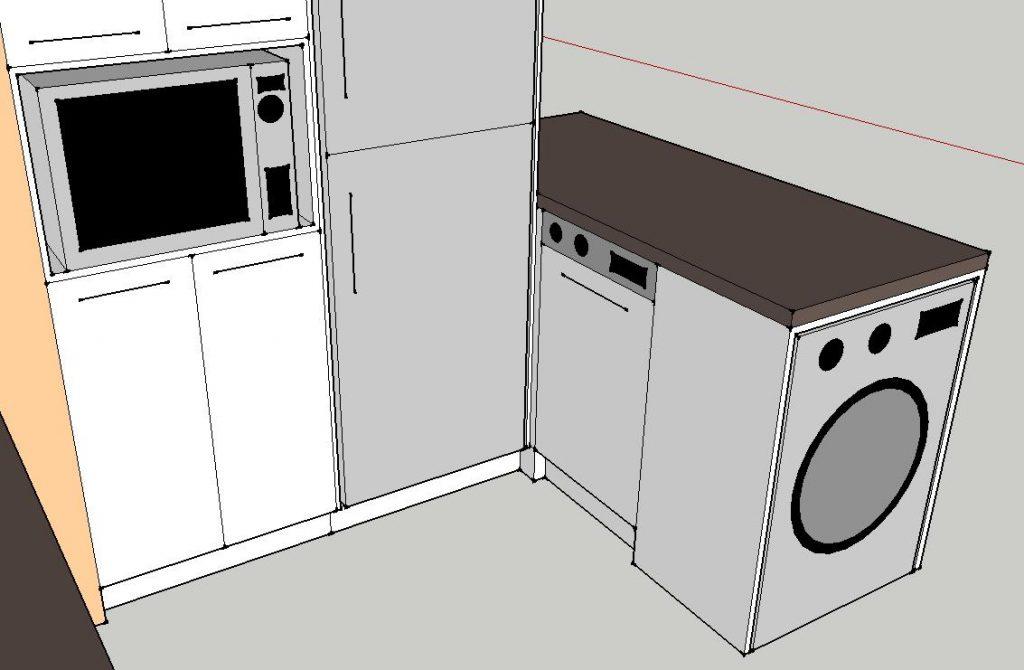 A mosó- és mosogatógép tényleg így néz ki (Kincsem bútor terve)