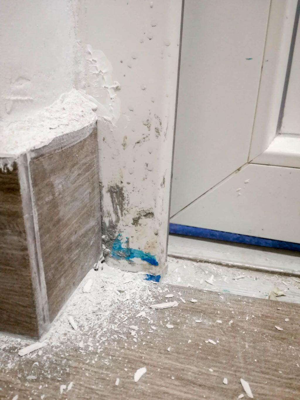 Az ajtókeretet is egy élmény volt takarítani
