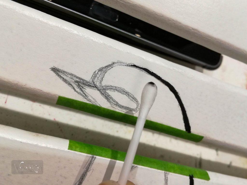 Kisebb hibát lehet nedves pálcikát forgatva javítani