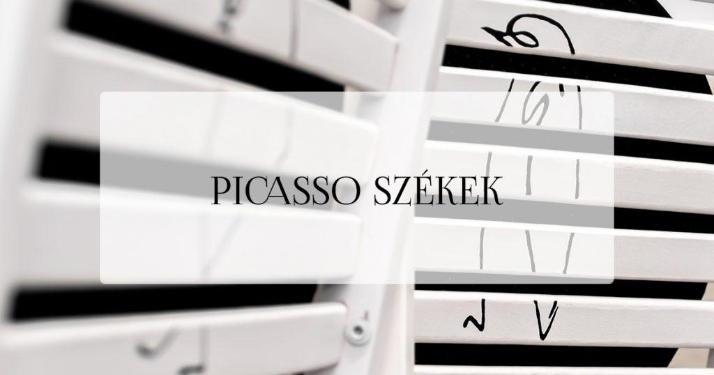 Picasso vonalrajz - szék festése - falidísz DIY
